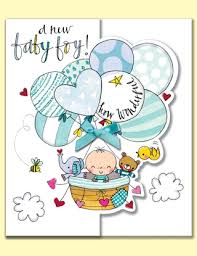 Card For Baby Boy New Baby Boy Balloons Gift Card