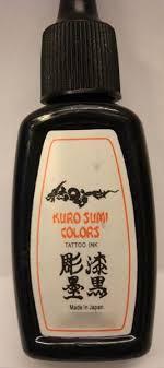 Dtest Tetovací Inkoust Kuro Sumi Colors Tattoo Ink Nebezpečné