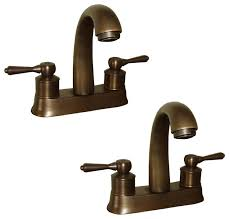 faucet antique brass classic bathroom sink centerset 2 lever pack of 2 traditional bathroom sink faucets by renovator s supply