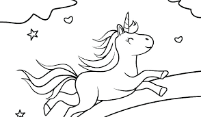 Unicorn Under Rainbow Coloring Pages Unicorn Horse With Rainbow