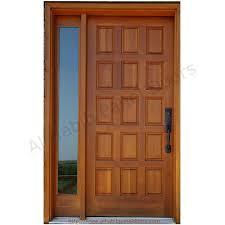 wooden door design. Solid Wooden Panel Door Design