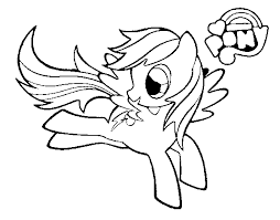My Little Pony Rainbow Dash Coloring Pages Getcoloringpagescom