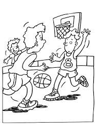 Coloriage Basket Ball Sur Hugolescargot Com