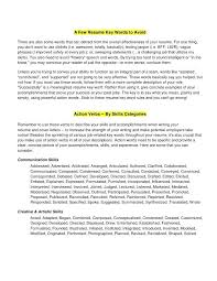 Words To Use In A Resume Unique Key Resume Words Words To Use On Resume Effective Nursing Resume