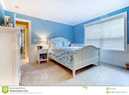 kids bedroom for girls blue. Download Blue Girls Kids Bedroom Interior. Stock Photo - Image Of Children, Large: For D
