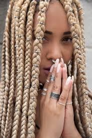 49 Best Blond Box Braids Un Ruly Com Images On Pinterest Box