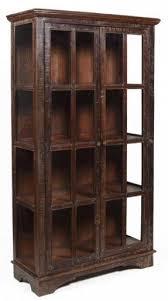 rustic curio cabinet. Plain Rustic 82 H Large Display Curio Cabinet Sun Rustic Finish Solid On Rustic Curio Cabinet U