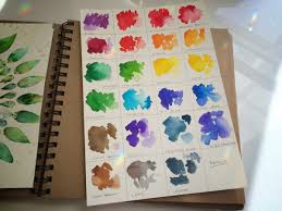 Watercolor With Brusho Crystal Colors Review Color Chart