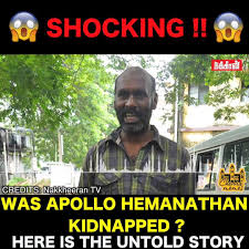 Was Apollo Hemanathan Kidnapped Facebook