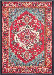 safavieh monaco mnc207c red and turquoise