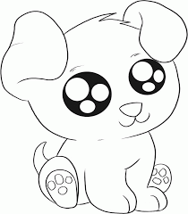 It seems this beautiful little dog wearing a collar and tongue out is wanting to play. Coloring Pages With Cute Puppies Coloring Home