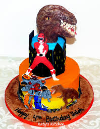 Katys Kitchen Power Rangers Dinosaur Birthday Cake