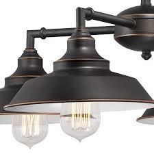 iron hill four light indoor convertible chandelier semi flush ceiling fixture oil rubbed bronze