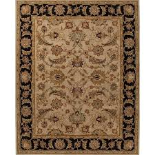 jaipur rugs mythos 12 x 18 hand tufted wool rug in taupe and black