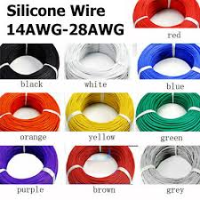 11 Colors <b>Flexible</b> Stranded Silicone Wire Electronic Cable 5M/<b>10M</b> ...