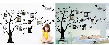large family tree wall decal for living room bedroom sofa backdrop tv background removable wall decor