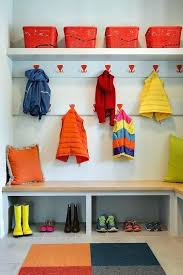 colorful coat hooks.  Hooks Mudroom Coat Hooks Colorful With Red Over Maple Bench  Rack Plans In D