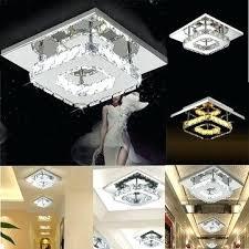 modern square crystal led ceiling light fixture pendant lamp chandelier home decor fancy 12 recessed lighting