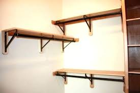 home depot closet rods rod brackets ed support bracket wood metal clo