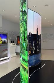 lg wallpaper tv. lg also showcased its incredibly thin and light \u201cwallpaper\u201d oled, which was unveiled earlier this year. the tv is just 0.97 mm thick weighs 1.9 lg wallpaper tv l