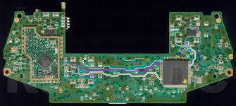 xb1 controller pcb scans traces and info 1537 if any button is wished to be duplicated it s just a matter of one side of the new button going to any ground spot then the other side going to the button