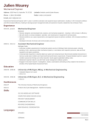 041 Mechanical Engineering 13 Resume Templates Template