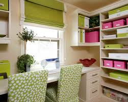 awesome home office ideas with glass computer desk and grey contemporary green chair using polka dot chic home office white