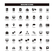 Resume Icons Inspiration 35 CV And Resume Black Solid Icons Royalty Free Cliparts Vectors And