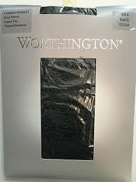 Worthington Tights Size Chart Jcpenney Worthington Floral Pattern Control Top Black