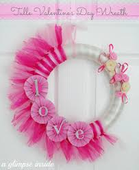 valentine wreaths for your front doorA Glimpse Inside Tulle Valentines Day Wreath Tutorial