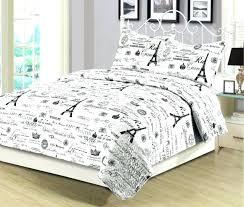 eiffel tower bedding tower bedding set king or queen 3 piece bedding quilt set tower black