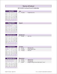 School Calendar Template 2015 2020 School Calendar Template 2019 2020 School Year Calendar