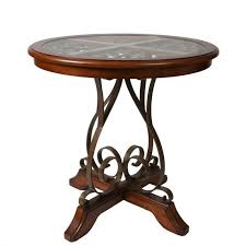 pastel furniture carmel pub table in cosmo sepia