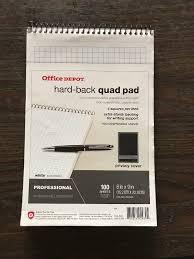 Office Depot Logo Design Amazing Office Depot Hardback Quad Pads Pack 48 Sheets 48x48 7358544824805