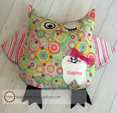 Owl Pillow Pattern Stuffed Owl Pillow Toy Owlivia And Owliver Geminired Creations