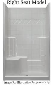 Shower stalls with seats Glass 817lakeviewinfo 48 36 Shower Stall Builtin Right Seat Multipiece