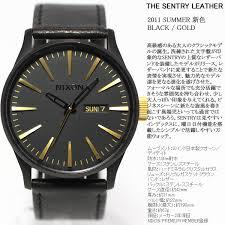 asr rakuten global market nixon nixon sentry leather sentry nixon nixon sentry leather sentry leather watch men s matte black gold na1051041 00
