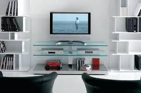 modern glass tv stands modern tv stands with glass doors
