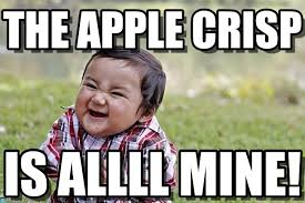 The Apple Crisp - Evil Kid meme on Memegen via Relatably.com