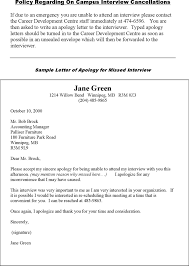 Apologize Sample Letters Free Sample Letter Of Apology For Missed Interview Pdf
