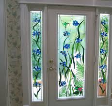 leaded glass door inserts with fl design