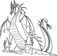 Small Picture Maleficent Dragon Castle Cartoon Coloring Page Wecoloringpage