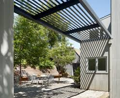 Trendy patio photo in San Francisco with a pergola