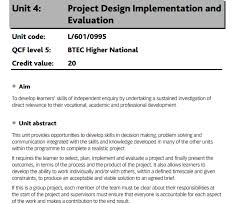 Unit 4 Project Design Implementation And Evaluation - Locus Help