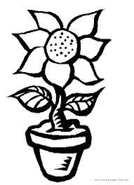 Flower Pot Coloring Page Coloring Page Flower Flowers Color Pages