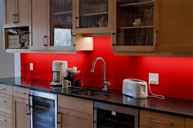 Breathtaking Red Glass Backsplash 33 In Interior Design Ideas with Red  Glass Backsplash