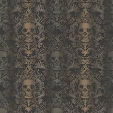 Skull Wallpaper For Bedroom Black Wallpaper Wallpaper Borders Decor The Home Depot