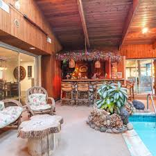 home indoor pool with bar. Perfect With Dick Portillou0027s Suburban Home With Indoor Pool U0026 Tiki Bar Is Up For Sale  Corrected B