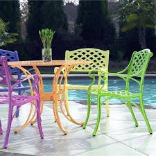 colored wrought iron furniture amazing of metal patio bistro set best painted patio furniture ideas on