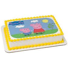 half sheet cake price walmart peppa pig 1 4 quarter sheet edible photo image cake decoration